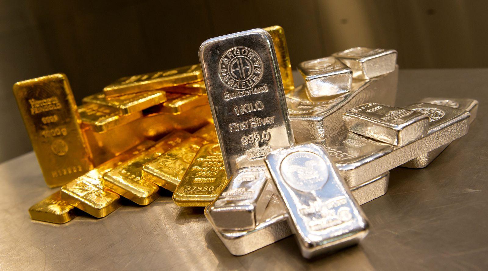 Goldbarren / Silberbarren