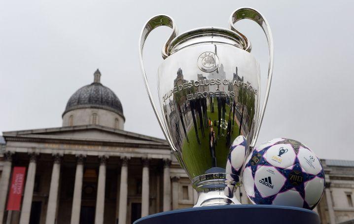 Champions-League-Pokal auf dem Trafalgar Square: 70 Millionen Euro sichere Einnahmen