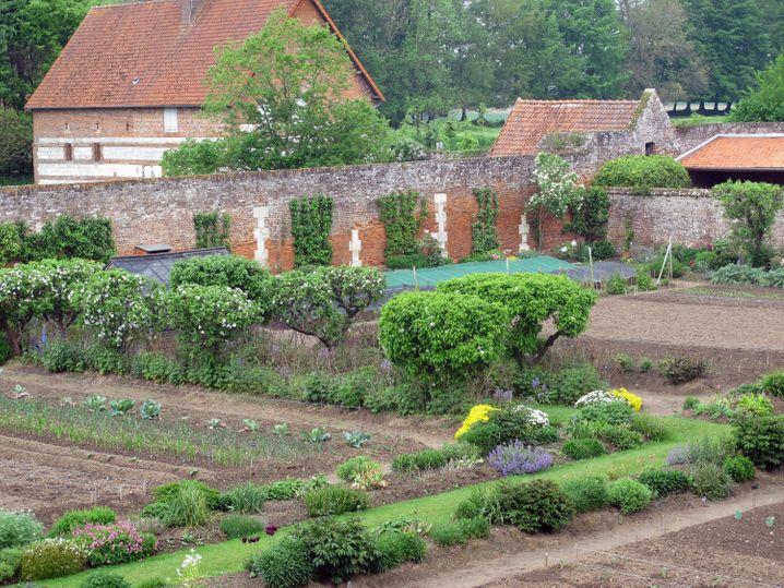 Einer der größten Küchengärten Frankreichs befindet sich auf dem Anwesen des Schlosses in der Normandie