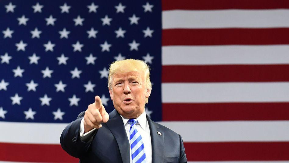 """""""I think that if I ever got impeached, the market would crash"""": US-Präsident Trump glaubt, die Börse zu kennen."""