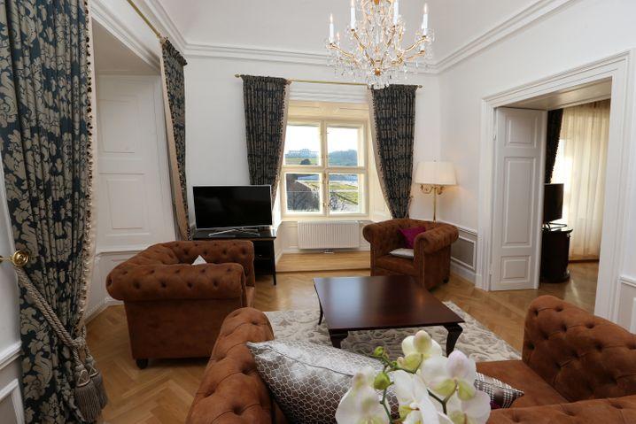 """""""The Suite"""" im Schloss Schönbrunn ist geräumig. Kein Wunder, hier hat sich einmal eine Kaiserin wohlfühlen sollen."""