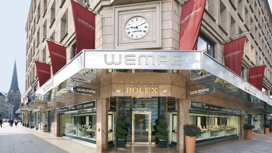 Streit um Internetstrategie: Der bekannte Hamburger Juwelier Wempe nimmt den Luxusuhrenhersteller Nomos Glashütte aus dem Sortiment