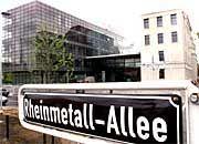 """""""Produkt Sicherheit wieder eine Marktchance"""" Rheinmetall-Zentrale in Düsseldorf"""