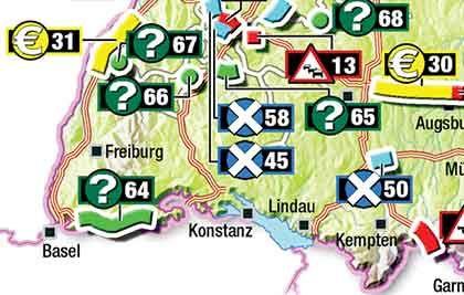 Zähfließender Verkehr auf der A5 zwischen Baden-Baden und Offenburg (31): Hier war ein privat vorfinanziertes Projekt geplant, das nun durch den Mautausfall gefährdet ist