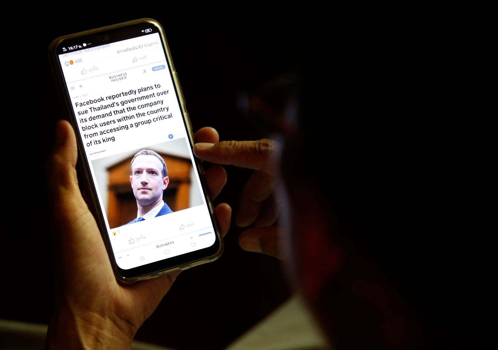 Facebook prepares legally action against Thai government after demand to block a monarchy critic group, Bangkok, Thailand - 25 Aug 2020
