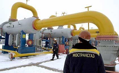 Aufschwung im Eis: Gasprom-Förderanlage in Sibirien