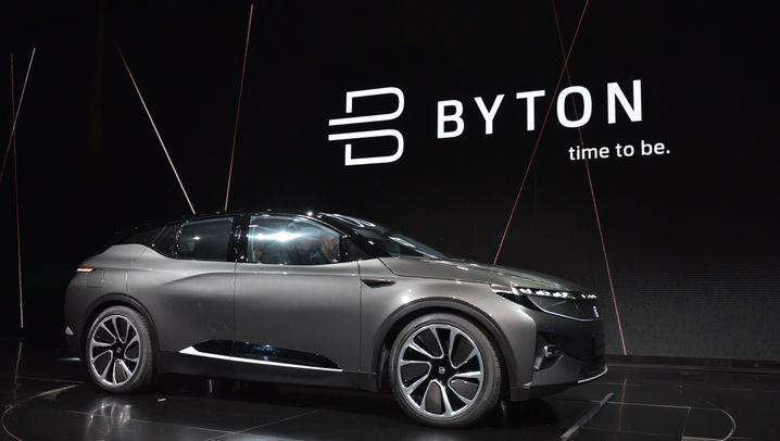 Elektro-SUV der chinesischen Marke Byton: Riesen-Bildschirm statt Riesen-Beschleunigung