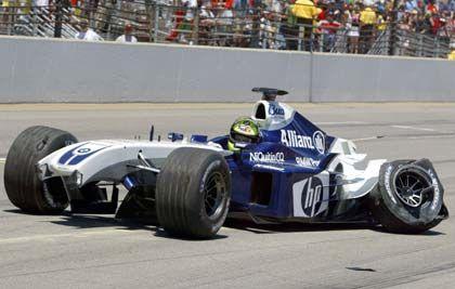 Panne die Dritte: Ralf Schumacher beim Grand Prix in Indianapolis