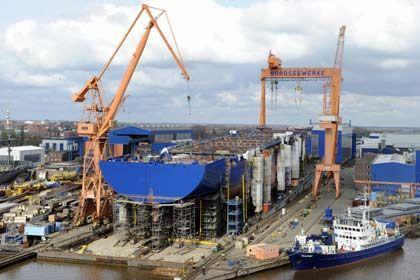 Rotoren statt Schiffe: Auf dem Gelände der Nordseewerke werden künftig Windräder gebaut