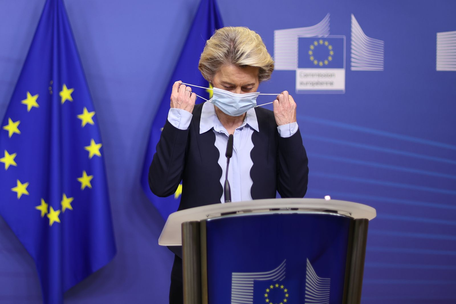 European Commission president Ursula von der Leyen press conference, Brussels, Belgium - 16 Nov 2020