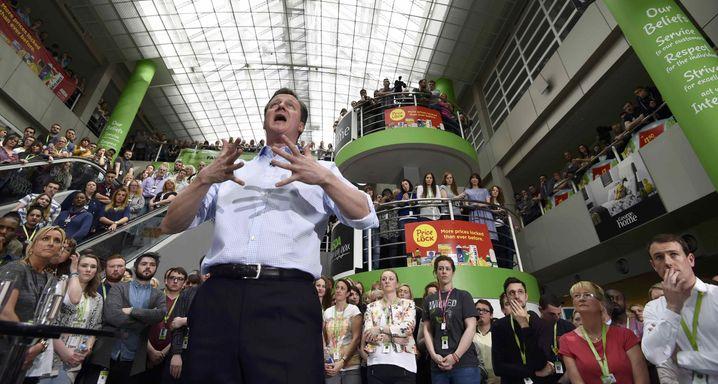 Premier Cameron: Erst spät kam sein Wahlkampf auf Touren