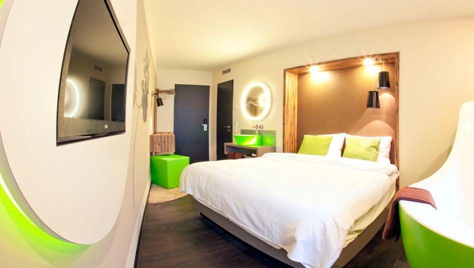 Musterzimmer eines Travel24-Designhotels in Leipzig: Für den Aus- und Umbau zweier Designhotels sammelte das Online-Reisebüro bei Anlegern Millionen Euro ein. Die Hotels gingen bis heute nicht in Betrieb