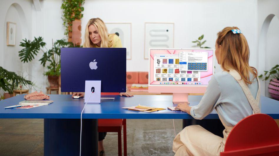 Homeoffice im Blick: Die neuen iMacs von Apple