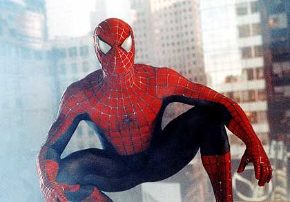 "Szene aus dem Film ""Spider Man"""