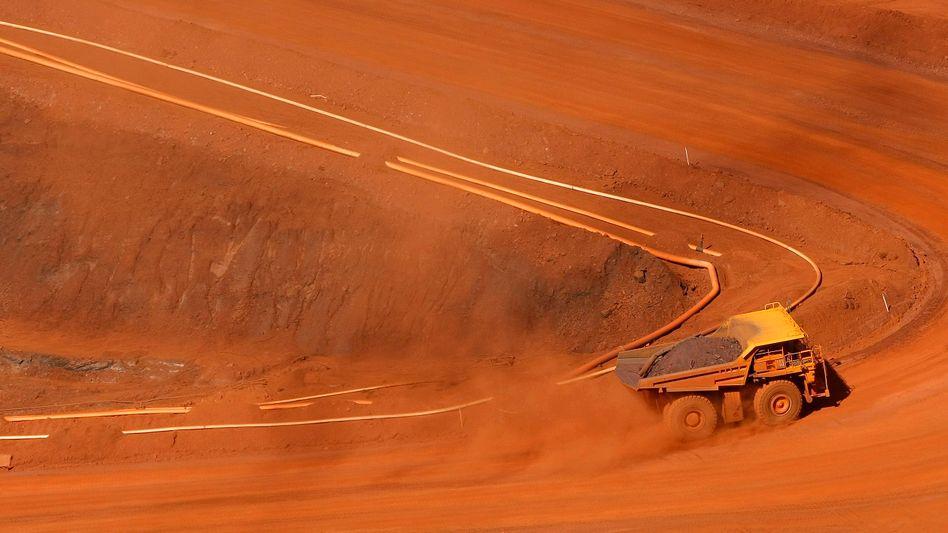 Erzabbau von Rio Tinto in Australien: Der Bergbaukonzern bietet gegenwärtig eine außergewöhnlich hohe Dividendenrendite