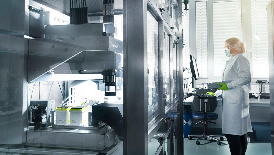 Im Labor: Biontech-Forschung in Mainz.