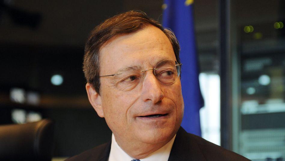 """EZB-Chef Mario Draghi: """"Außergewöhnlich hohe Risikoprämien"""" für einige Euro-Länder"""