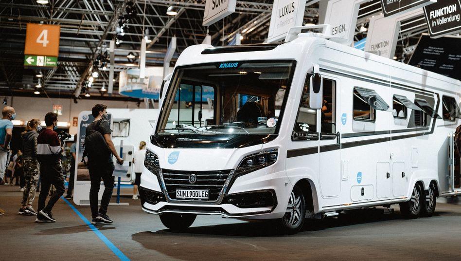 """Wohnwagen von Knaus Tabbert auf der Düsseldorfer Messe """"Caravan Salon"""""""