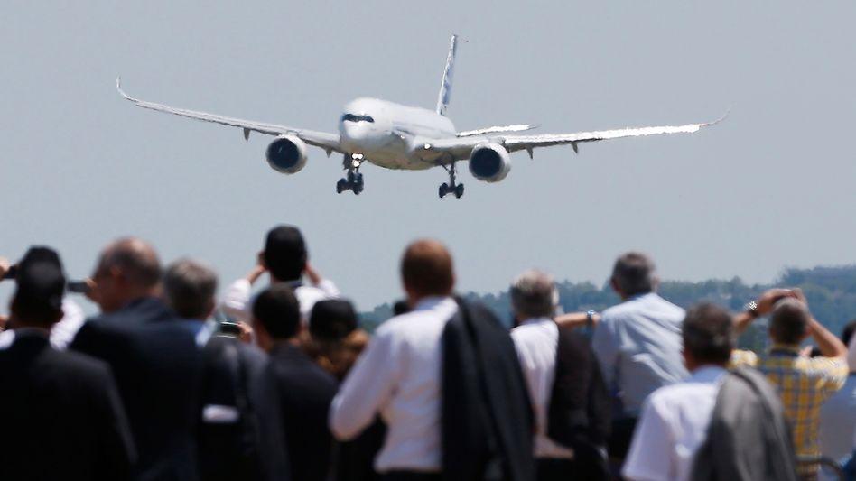 Kurz vor der Landung: Der A 350 soll Boeing Marktanteile abjagen