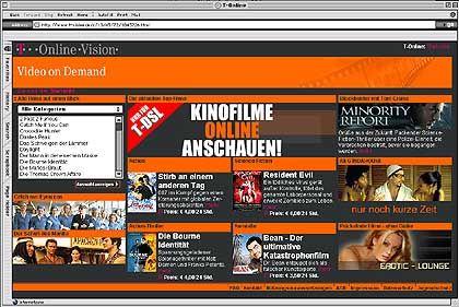 """""""Videothek"""" im Web: Bisher nur für Laptop-Cineasten"""
