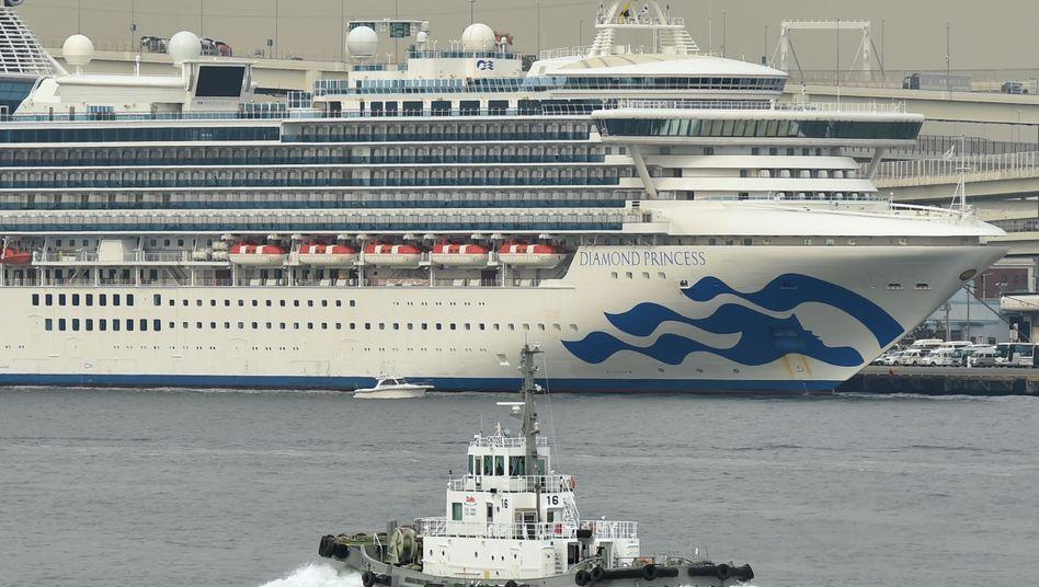 """Das Kreuzfahrtschiff """"Diamond Princess"""" war vor Japan unter Quarantäne gestellt worden"""