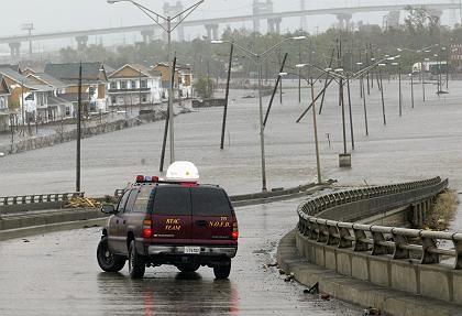 Kostenfaktor: Fluten wie die in New Orleans nach Hurrikan Rita könnten zunehmen