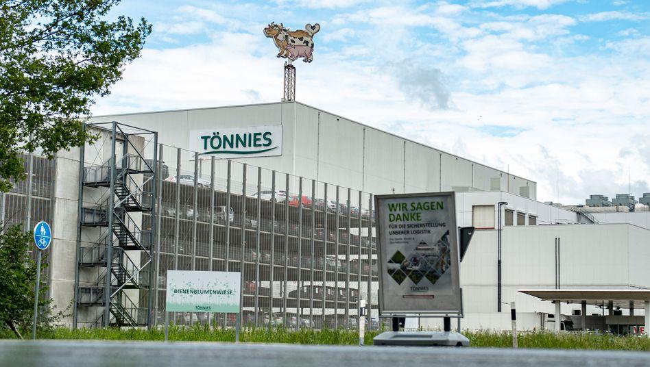Fleischfabrik des Branchen-Riesen Tönnies in Rheda-Wiedenbrück