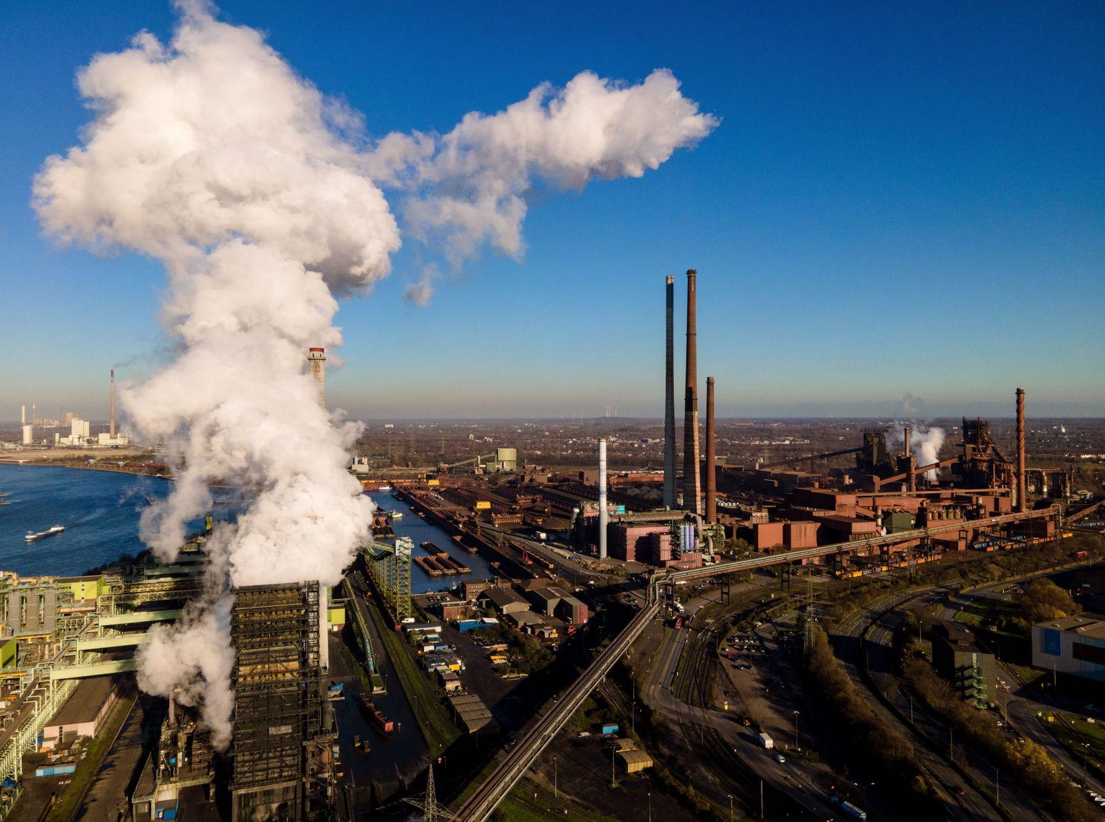 ThyssenKrupp steel plant Duisburg, Germany - 18 Nov 2020