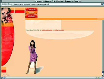 Screenshot der Schwartau-Werbung mit Verona Feldbusch