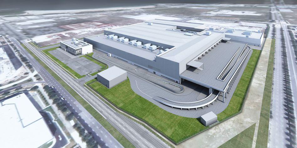 So könnte sie aussehen: Dysons zweistöckige Elektroautofabrik im Stadtstaat Singapur. Details zu der geplanten Produktionsstätte nennt das Unternehmen noch nicht