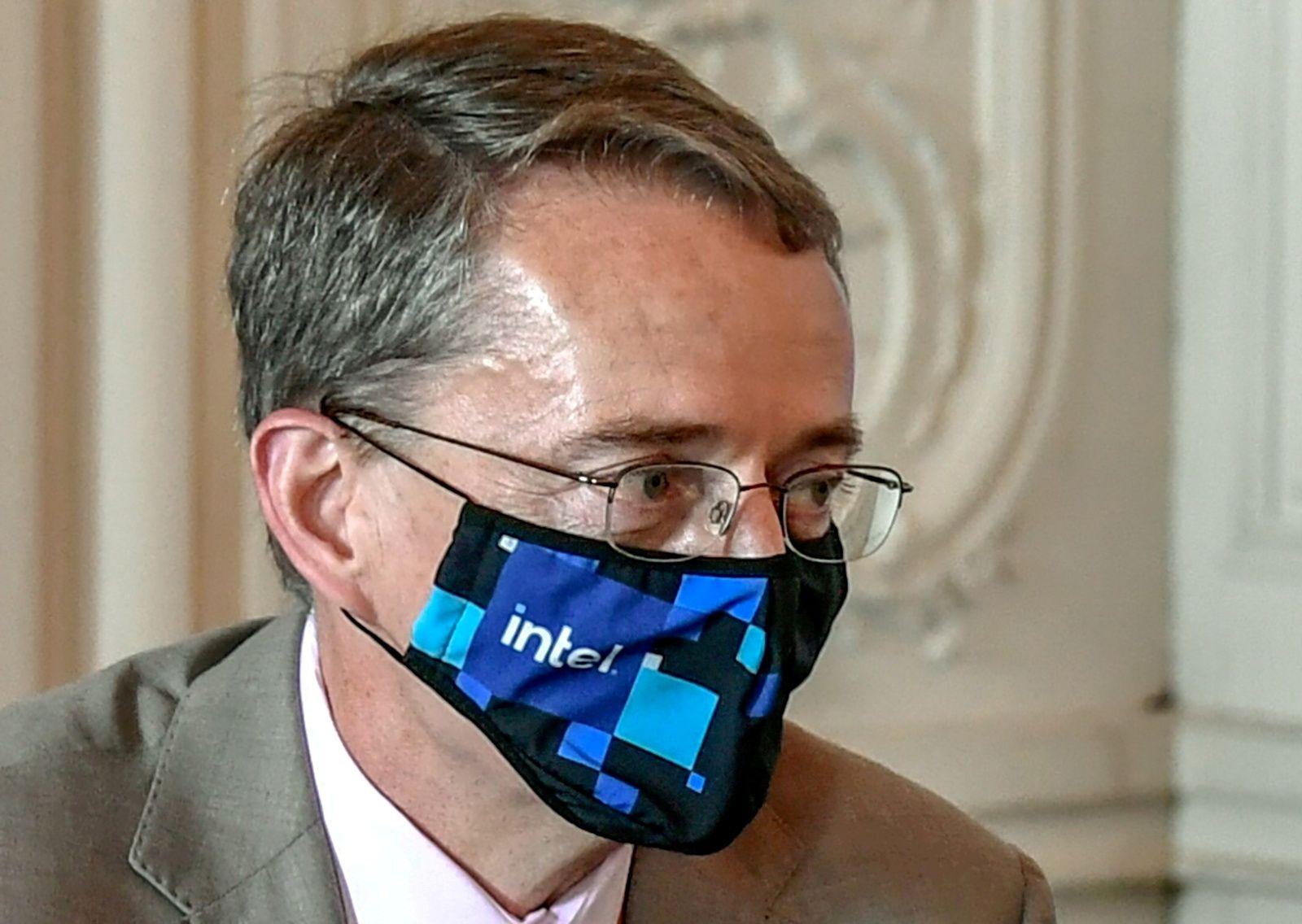 FILE PHOTO: Intel CEO Pat Gelsinger attends an international business leaders' meeting in Versailles, France