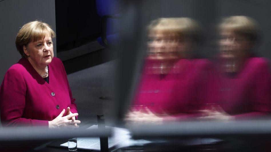 """Regierungserklärung von Kanzlerin Angela Merkel: """"Wir halten diese Zölle für rechtswidrig"""""""