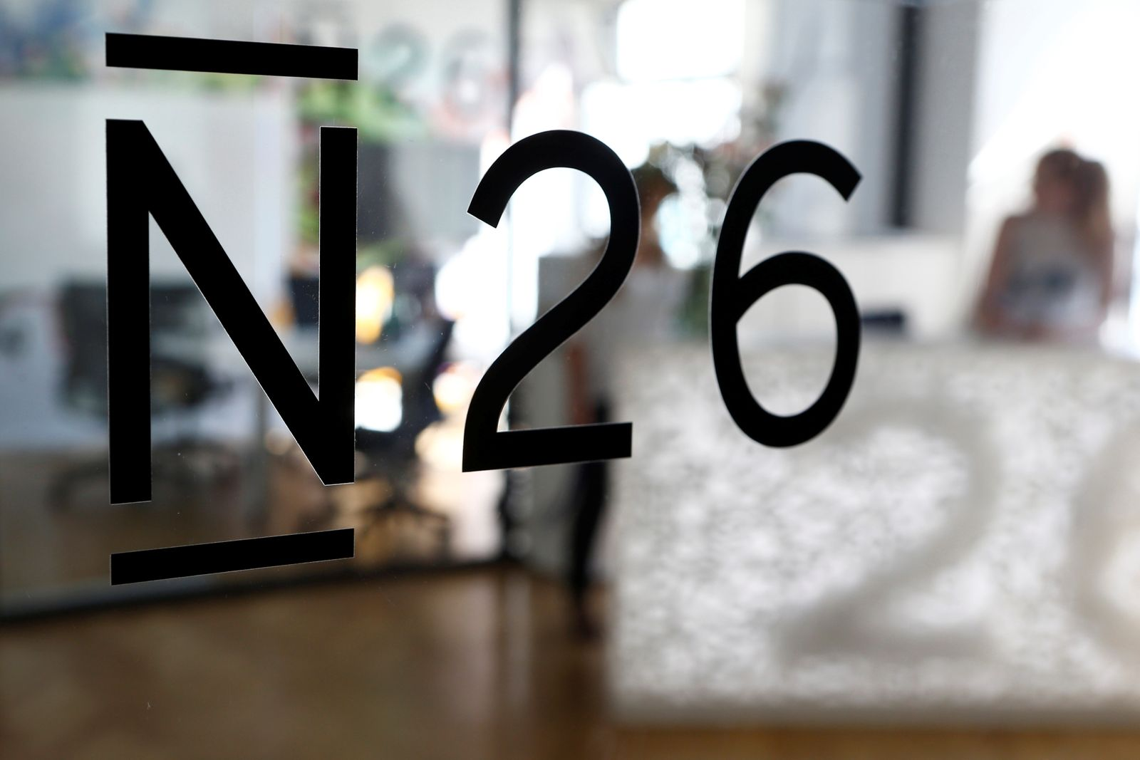 The logo of the Fintech N26 (Number26), seen in the N26 office in Berlin