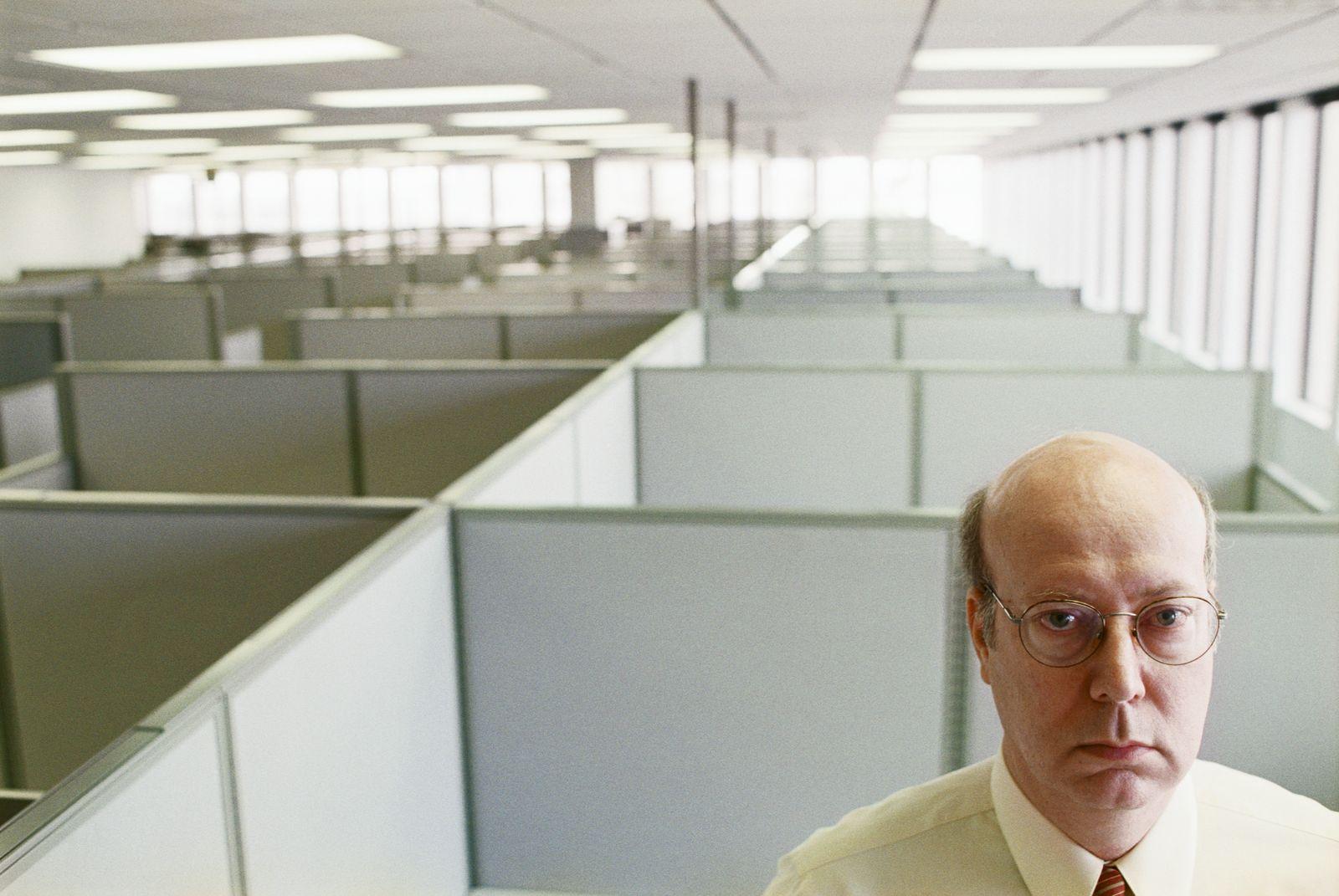 EINMALIGE VERWENDUNG Büro / Langweile / Eintönigkeit