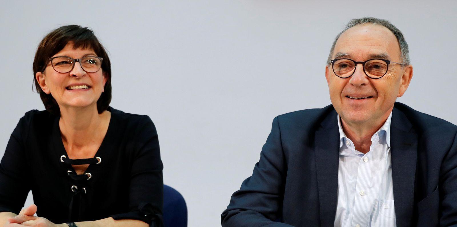 Saskia Esken and Norbert Walter-Borjans