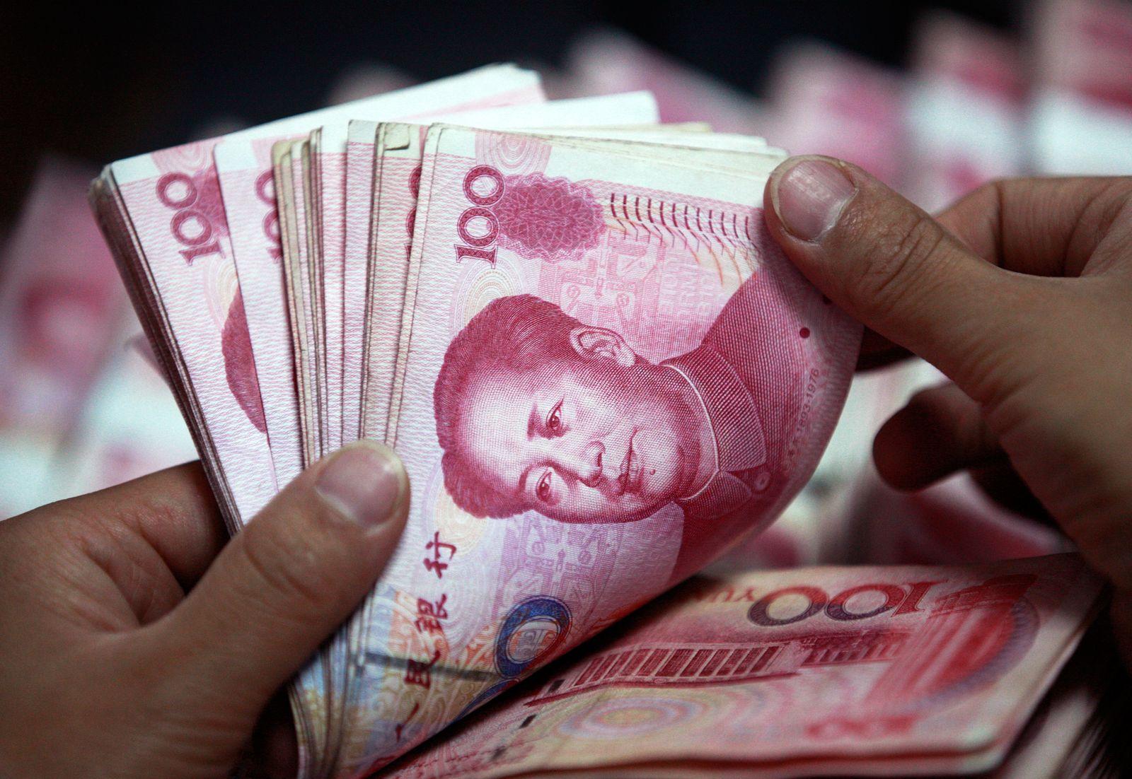 China / Banknoten / Geldscheine / Währung / Geld