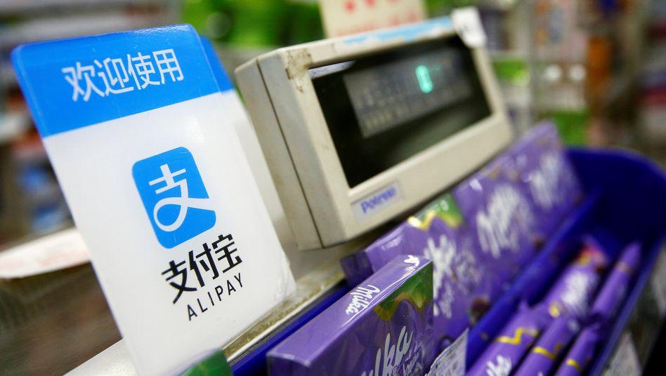Schokolade mit dem Smartphone via Alipay bezahlen
