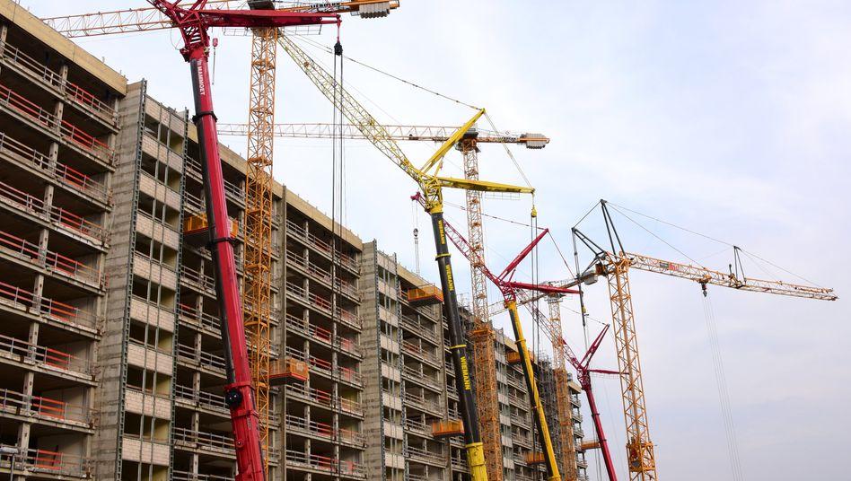 Baubranche: Von der Corona-Krise nur mäßig betroffen.