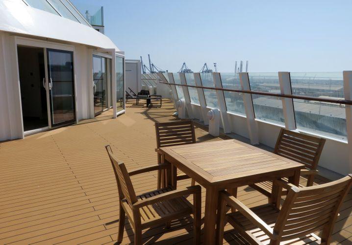 80 Quadratmeter Terrasse direkt über der Brücke: Mit diesem Superlativ können zwei Suiten punkten