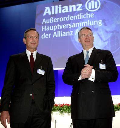 Optimistisch: Konzernchef Michael Diekmann und Aufsichtsratschef Henning Schulte-Noelle