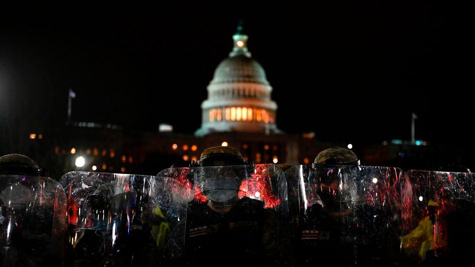 Nationalgarde vor dem US-Kapitol