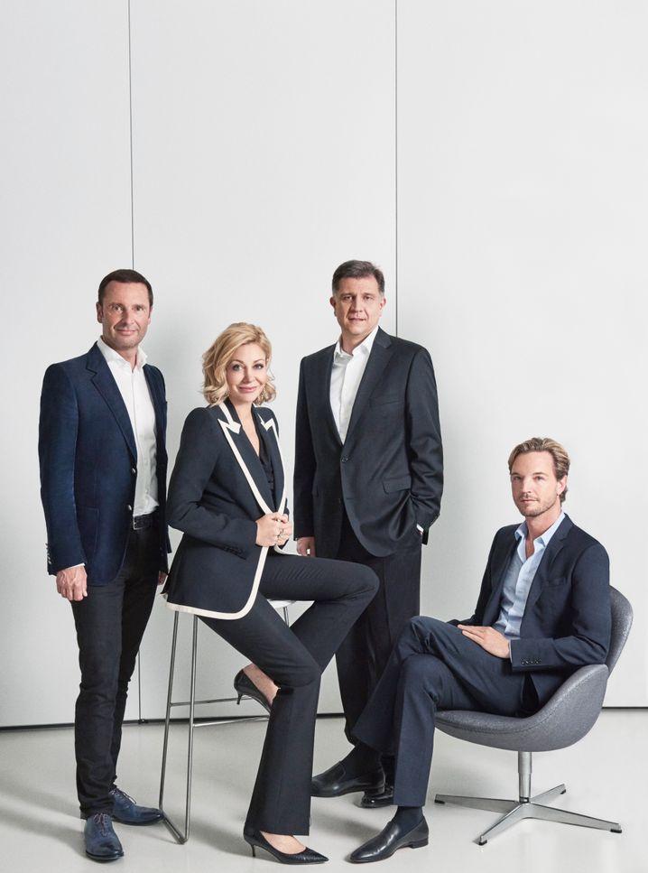 Neustart geplant: Robert Buchbauer, Nadja Swarovski, Mathias Margreiter, Markus Langes-Swarovski.
