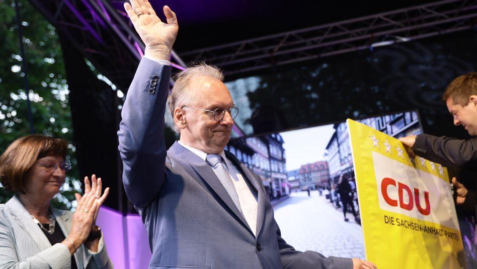 Bescheidener Triumphator: Sachsen-Anhalts Ministerpräsident Reiner Haseloff