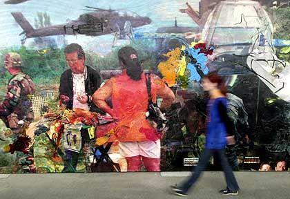 """""""End of Mainstream Media Report"""" des in New York lebenden argentinischen Künstlers Fabian Marcaccio"""