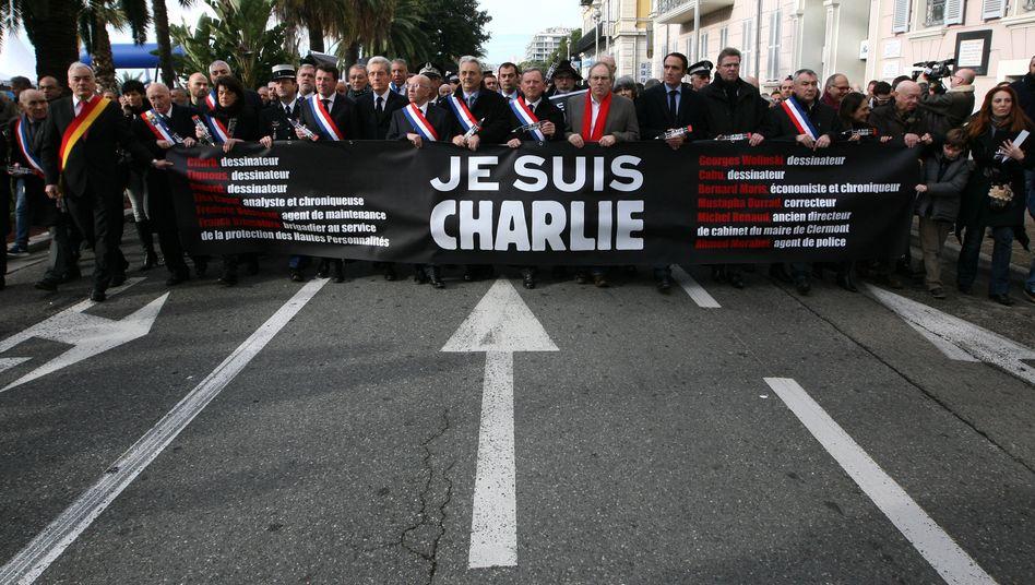 """""""Je suis Charlie"""": Auch Geschäftsleute finden bereits Gefallen an der Parole"""