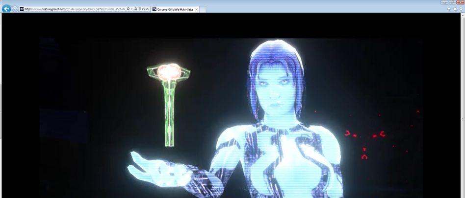 """Cortana: Den Namen der Assistenzsoftware trägt auch eine virtuelle Figur aus Microsofts bekannter Videospielreihe """"Halo"""""""