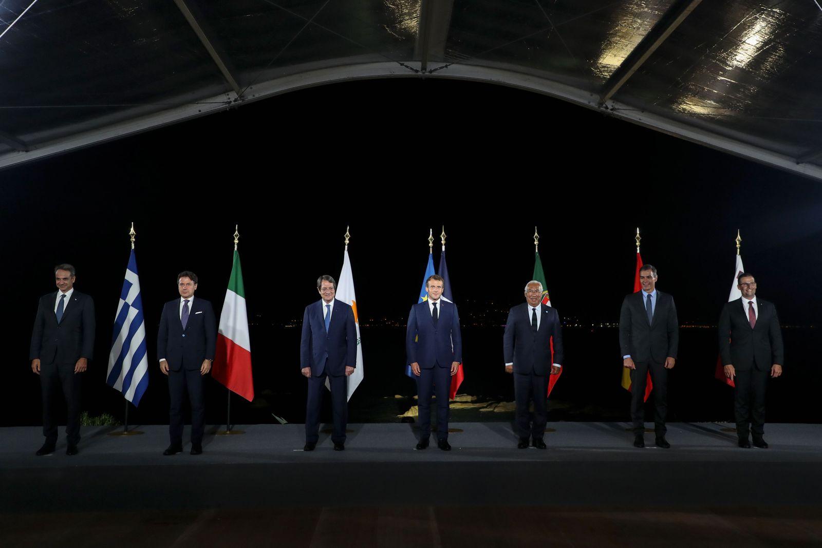 7th MED7 Mediterranean countries summit, Porticcio, France - 10 Sep 2020