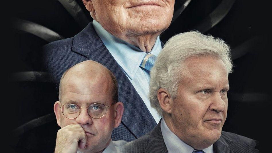 Scheinriesen: Der legendäre GE-CEO Jack Welch (o.) legte den Keim für den Niedergang, Nachfolger Jeff Immelt (r.) wirtschaftete den US-Riesen herunter. Für John Flannery ist schon nach gut einem Jahr wieder Schluss.