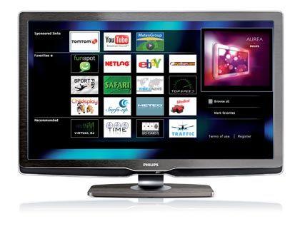 Internet für Couch-Potatoes: Beim Net-TV von Philips werden die Onlineinformationen auf dem kompletten Schirm dargestellt