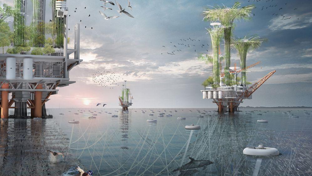 Fliegende Häuser, Bäume auf See: Das sind die Wolkenkratzer der Zukunft